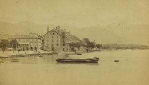 Switzerland Vevey & Lake Old CDV Photo Garcin 1870's