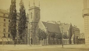 Switzerland Geneva Holy Trinity Church Old CDV Photo Garcin 1870's