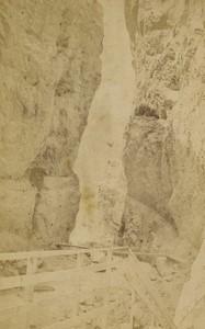 Switzerland Grindelwald Water fall Old CDV Photo Gabler 1870's