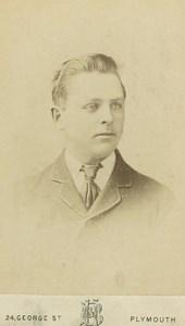 Young Man Wearing Tie Fashion Portrait old Heath and Bullingham CDV Photo 1880