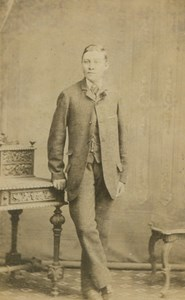 Victorian Fashion Young Man Standing St Austell old Orchard CDV Photo 1880