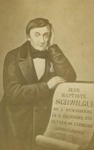 Jean-Baptiste Schwilgue Strasbourg Astronomic Clock Inventor old CDV Photo 1870