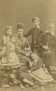 HRH Princess of Wales & Family Royalty Vintage Downey CDV Photo 1880