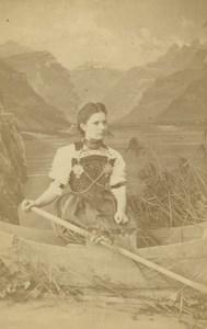 Peasant Nidwalden Types Traditional Costume T Richard Sohn Zurich CDV Photo 1880