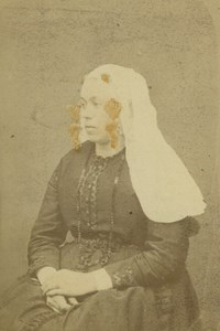 Beijerland Woman Types Traditional Costume Netherlands Jager old CDV Photo 1875