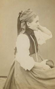 Peasant Haslithal Types Traditional Costume Richard Sohn old CDV Photo 1880