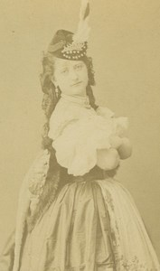 Austrian ? Actress in Costume Atelier Adele old CDV Photo 1870