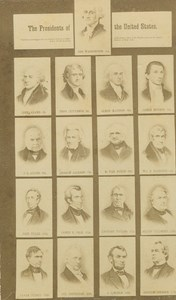 Composite Photo 17th First United States of America Presidents old CDV 1860's