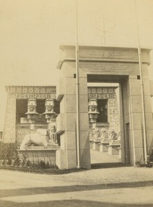 Temple of Edfu Egyptian Park 1867 Paris World's Fair Leon & Levy Old CDV Photo