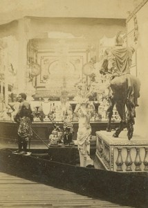 French Exhibit Cardboard Décor 1867 Paris World's Fair Leon & Levy Old CDV Photo