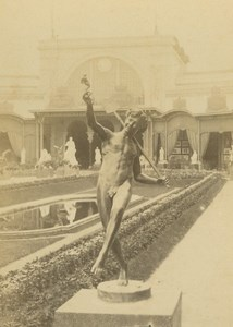 Central Garden Statue 1867 Paris World's Fair Leon & Levy Old CDV Photo