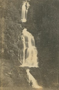 Giessbach Falls Waterfall Brienz Bernese Oberland Ad Braun old CDV Photo 1860
