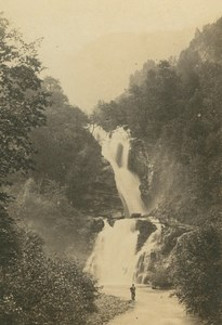 Reichenbachfall Waterfall Bernese Oberland Switzerland Ad Braun CDV Photo 1860