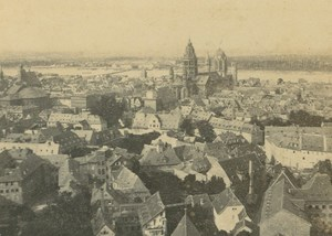 Mainz General View Cathedral Rhine Germany Ad Braun CDV Photo 1860