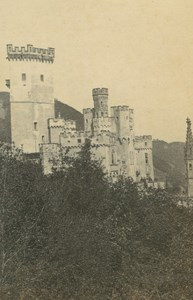 Stolzenfels Castle near Koblenz Germany Ad Braun old CDV Photo 1860