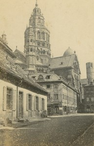 Mainz Cathedral St Martin Martinsdom Germany Ad Braun old CDV Photo 1860