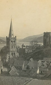 Bacharach Church & Wernerkapelle Germany Ad Braun old CDV Photo 1860
