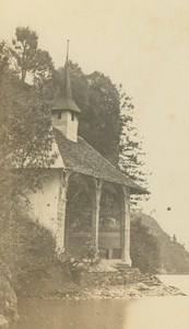 Chapelle de Guillaume Tell Lake Lucerne Switzerland old Charnaux CDV Photo 1865