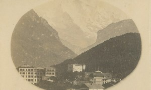 Interlaken & Jungfrau Mountain Swiss Alps old Anonymous CDV Photo 1865