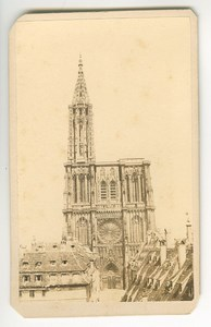 France Strasbourg Cathedral Old Guillon CDV Photo 1860