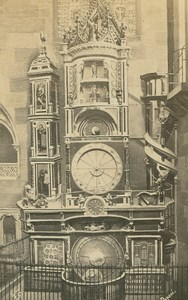 France Strasbourg Astronomical clock Cathedral Old Guillon CDV Photo 1860