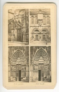 France Strasbourg Cathedral Gates Old Guillon CDV Photo 1860