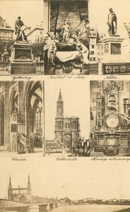 France Strasbourg Cathedral Monuments Old Guillon CDV Photo 1860