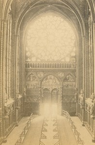 France Paris Sainte Chapelle Rose Window old Valecke CDV Photo 1870