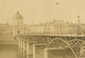France Paris Institut de France Pont des Arts Bridge old CDV Photo 1860