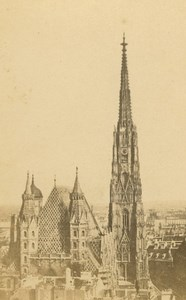Austria Vienna St. Stephen's Cathedral Stephansdom Wien old CDV Photo 1860's