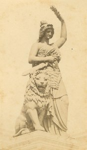Germany Munich Munchen Bavaria statue old Bscherer CDV Photo 1860's