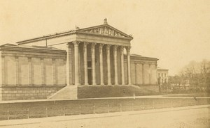 Germany Munich Königsplatz Museum Munchen old Bscherer CDV Photo 1860's