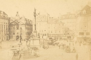 Austria Vienna ? Wien Animated Street Fountain old JC Steuer CDV Photo 1870