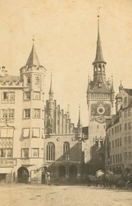 Germany Munich Old Town Hall Munchen Rathaus old Koenig CDV Photo 1860's