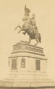 Austria Vienna Wien Statue Archduke Charles Heldenplatz Steuer CDV Photo 1860's