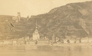 Germany Pfalzgrafenstein Castle Pfalz Kaub old Bertrand CDV Photo 1860's