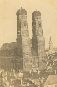 Germany Munich Frauenkirche Cathedral old Anonymous CDV Photo 1860's