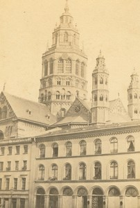 Germany Mainz St. Martin's Cathedral Martinsdom old Anonymous CDV Photo 1860's