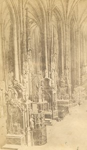 Austria Vienna Wien St Stephen's Cathedral Interior old Bermann CDV Photo 1860's