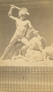 Austria Vienna Canova Theseus Centaur Fighting MIETHKE & WAWRA CDV Photo 1860's