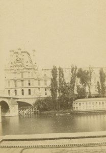 France Paris Tuileries Seine & Bridge old Anonymous CDV Photo 1860's