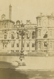 France Paris Hotel de Ville Townhall Ruins Commune Anonymous CDV Photo 1860