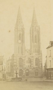 France St Lo Saint Pierre Cathedral old Anonymous CDV Photo 1860's