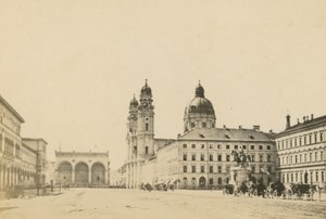 Germany Munich Theatinerkirche Munchen Church old CDV Photo 1870
