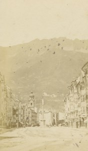 Austria Innsbruck General View Mountain Church old Czichna CDV Photo 1870