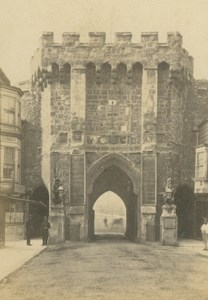 Great Britain Medieval Town Gate old Poulton CDV Photo 1860's