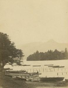 England Derwentwater Catbells Lake District old Petschler CDV Photo 1870