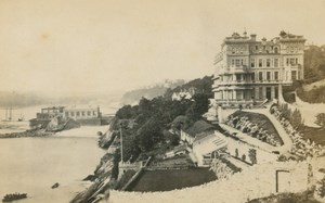 Great Britain Big House Hotel Seaside old Francis Frith CDV Photo 1860's