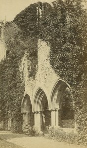 England Netley Abbey Hampshire Chapter House Ruins old Fincham CDV Photo 1870