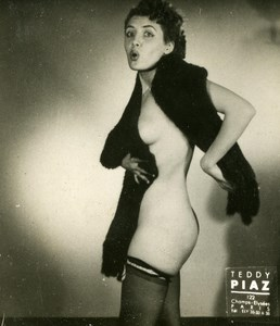 France Paris Matchbox Women Nudes Old Teddy Piaz Photo 1940